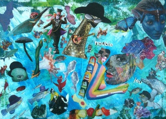 trouble jeu collage artistique at l art du collage